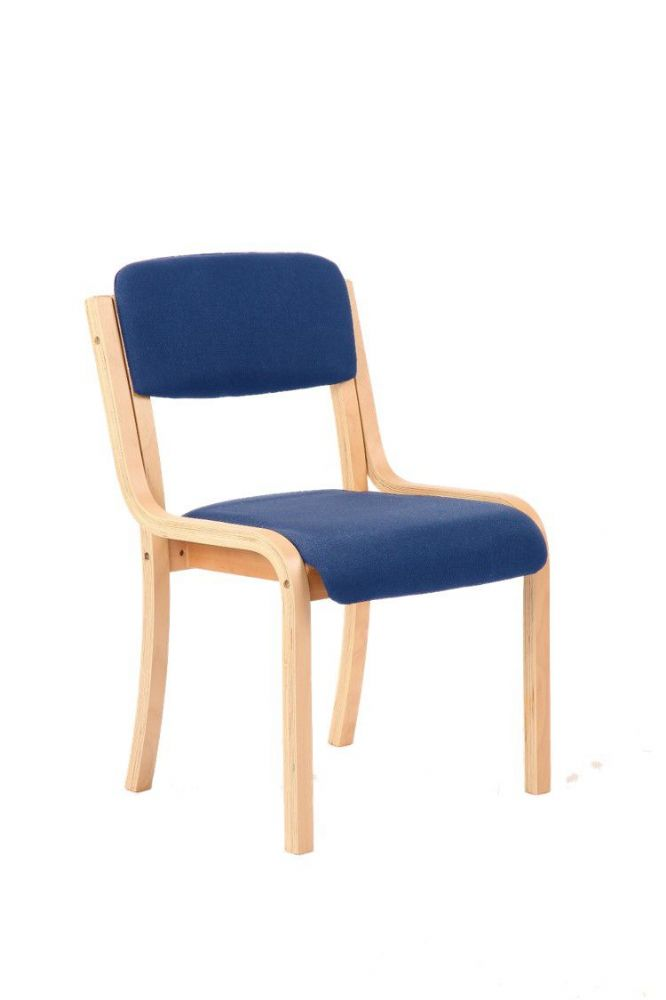 Madrid Wooden Frame Visitor Chair Beech Frame No Arms Various Fabric Colours Available